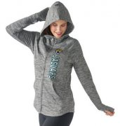 Wholesale Cheap Women's NFL Jacksonville Jaguars G-III 4Her by Carl Banks Recovery Full-Zip Hoodie Heathered Gray