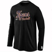 Wholesale Cheap Detroit Tigers Long Sleeve MLB T-Shirt Black