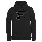 Wholesale Cheap Men's St. Louis Blues Black Rink Warrior Pullover Hoodie