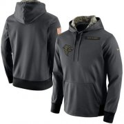 Wholesale Cheap Men's Atlanta Falcons Nike Anthracite Salute to Service Player Performance Hoodie