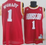 Wholesale Cheap Houston Rockets #1 Tracy McGrady Red Swingman Throwback Jersey
