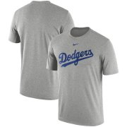 Wholesale Cheap Los Angeles Dodgers Nike Legend Primary Logo Performance T-Shirt Heathered Gray