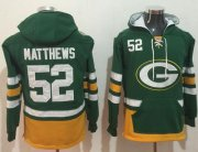 Wholesale Cheap Nike Packers #52 Clay Matthews Green/Gold Name & Number Pullover NFL Hoodie