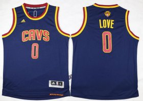 Wholesale Cheap Men\'s Cleveland Cavaliers #0 Kevin Love Navy Blue 2017 The NBA Finals Patch Jersey