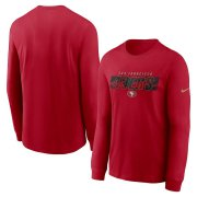 Wholesale Cheap San Francisco 49ers Nike Fan Gear Playbook Long Sleeve T-Shirt Scarlet