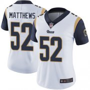 Wholesale Cheap Nike Rams #52 Clay Matthews White Women's Stitched NFL Vapor Untouchable Limited Jersey