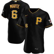 Wholesale Cheap Pittsburgh Pirates #6 Starling Marte Men's Nike Black Alternate 2020 Authentic Player MLB Jersey