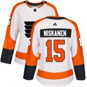 Wholesale Cheap Adidas Flyers #15 Matt Niskanen White Road Authentic Women's Stitched NHL Jersey