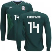 Wholesale Cheap Mexico #14 Chicharito Home Long Sleeves Kid Soccer Country Jersey