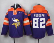 Wholesale Cheap Nike Vikings #82 Kyle Rudolph Purple Player Pullover NFL Hoodie