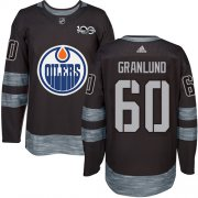 Wholesale Cheap Adidas Oilers #60 Markus Granlund Black 1917-2017 100th Anniversary Stitched NHL Jersey