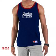 Wholesale Cheap Men's Nike New York Yankees Home Practice Tank Top Blue