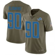 Wholesale Cheap Nike Lions #90 Trey Flowers Olive Men's Stitched NFL Limited 2017 Salute to Service Jersey