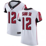 Wholesale Cheap Nike Falcons #12 Mohamed Sanu Sr White Men's Stitched NFL Vapor Untouchable Elite Jersey