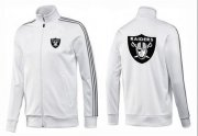 Wholesale Cheap NFL Las Vegas Raiders Team Logo Jacket White_3