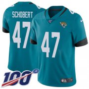 Wholesale Cheap Nike Jaguars #47 Joe Schobert Teal Green Alternate Youth Stitched NFL 100th Season Vapor Untouchable Limited Jersey