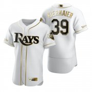Wholesale Cheap Tampa Bay Rays #39 Kevin Kiermaier White Nike Men's Authentic Golden Edition MLB Jersey