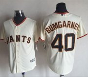 Wholesale Cheap Giants #40 Madison Bumgarner Cream New Cool Base Stitched MLB Jersey