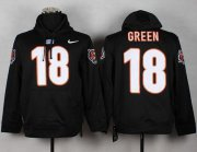 Wholesale Cheap Cincinnati Bengals #18 A.J. Green NFL Pullover Hoodie Black