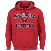 Wholesale Cheap Washington Capitals Majestic Heart & Soul Hoodie Red