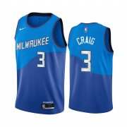 Wholesale Cheap Nike Bucks #3 Torrey Craig Blue NBA Swingman 2020-21 City Edition Jersey