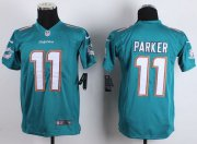 Wholesale Nike Dolphins #11 DeVante Parker Aqua Green Team Color Youth Stitched NFL New Elite Jersey