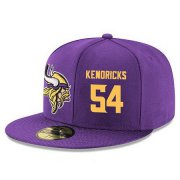 Wholesale Cheap Minnesota Vikings #54 Eric Kendricks Snapback Cap NFL Player Purple with Gold Number Stitched Hat