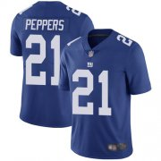 Wholesale Cheap Nike Giants #21 Jabrill Peppers Royal Blue Team Color Men's Stitched NFL Vapor Untouchable Limited Jersey