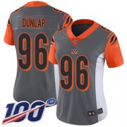 Wholesale Cheap Nike Bengals #96 Carlos Dunlap Silver Women's Stitched NFL Limited Inverted Legend 100th Season Jersey