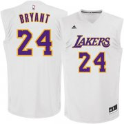 Wholesale Cheap Los Angeles Lakers #24 Kobe Bryant White Chase Fashion Replica Jersey