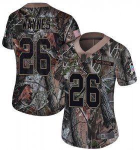 Wholesale Cheap Nike Vikings #26 Trae Waynes Camo Women\'s Stitched NFL Limited Rush Realtree Jersey