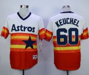 Wholesale Cheap Astros #60 Dallas Keuchel White/Orange 1980 Turn Back The Clock Stitched MLB Jersey