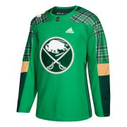Wholesale Cheap Adidas Sabres Blank adidas Green St. Patrick's Day Authentic Practice Stitched NHL Jersey