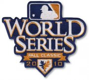 Wholesale Cheap Stitched 2010 MLB World Series Logo Jersey Sleeve Patch San Francisco Giants vs Texas Rangers