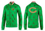 Wholesale NFL Chicago Bears Team Logo Jacket Green
