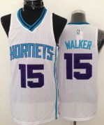 Wholesale Cheap Charlotte Hornets #15 Kemba Walker White Swingman Jersey