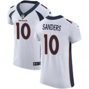 Wholesale Cheap Nike Broncos #10 Emmanuel Sanders White Men's Stitched NFL Vapor Untouchable Elite Jersey
