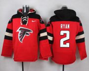 Wholesale Cheap Nike Falcons #2 Matt Ryan Red Player Pullover NFL Hoodie
