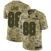 Wholesale Cheap Nike Cowboys #88 CeeDee Lamb Camo Youth Stitched NFL Limited 2018 Salute To Service Jersey