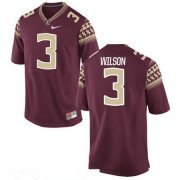 Wholesale Cheap Men's Florida State Seminoles #3 Jesus Wilson Red Stitched College Football 2016 Nike NCAA Jersey