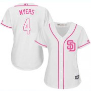 Wholesale Cheap Padres #4 Wil Myers White/Pink Fashion Women's Stitched MLB Jersey