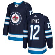 Wholesale Cheap Adidas Jets #12 Kevin Hayes Navy Blue Home Authentic Stitched NHL Jersey