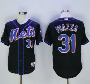 Wholesale Cheap Mets #31 Mike Piazza Black 2016 Hall Of Fame Patch Stitched MLB Jersey