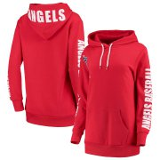 Wholesale Cheap Los Angeles Angels G-III 4Her by Carl Banks Women's 12th Inning Pullover Hoodie Red