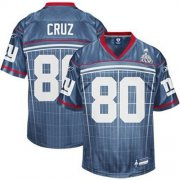 Wholesale Cheap Giants #80 Victor Cruz Grey Super Bowl XLVI Embroidered NFL Jersey
