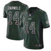 Wholesale Cheap Nike Jets #14 Sam Darnold Green Team Color Men's Stitched NFL Limited Rush Drift Fashion Jersey