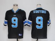 Wholesale Cheap Lions #9 Matthew Stafford Black Stitched NFL Jersey