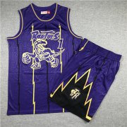 Wholesale Cheap Raptors 1 Tracy McGrady Purple 1998-99 Hardwood Classics Jersey(With Shorts)