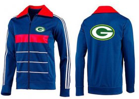 Wholesale Cheap NFL Green Bay Packers Team Logo Jacket Blue_2