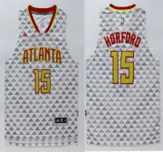 Wholesale Cheap Men's Atlanta Hawks #15 Al Horford Revolution 30 Swingman 2015-16 New White Jersey